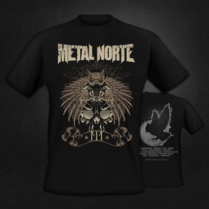 Camisetas-Metal-Norte-III-Tribal-Doble-estampación