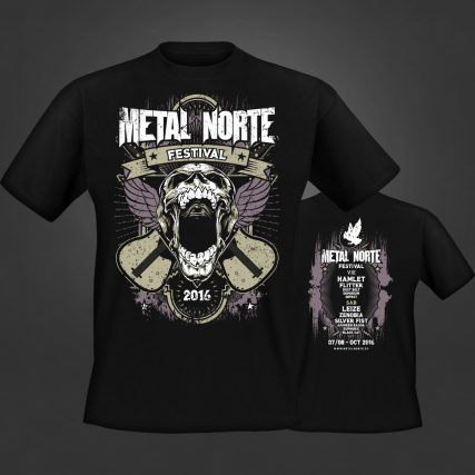 Camiseta Metal Norte festival 2016