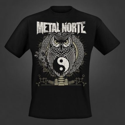 Metal Norte Oriental Owl T-Shirt